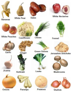 White fruits vegetables 232x300 Eat Your Colors Every Day to Balance Your Diet (Guide)
