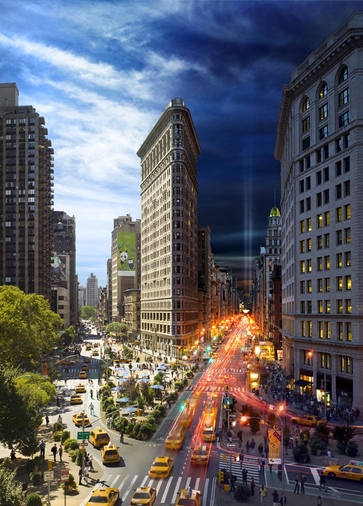 day night combined The Flatiron NYC1 New York City, Day and Night Combined By Stephen Wilkes (Photo Gallery)