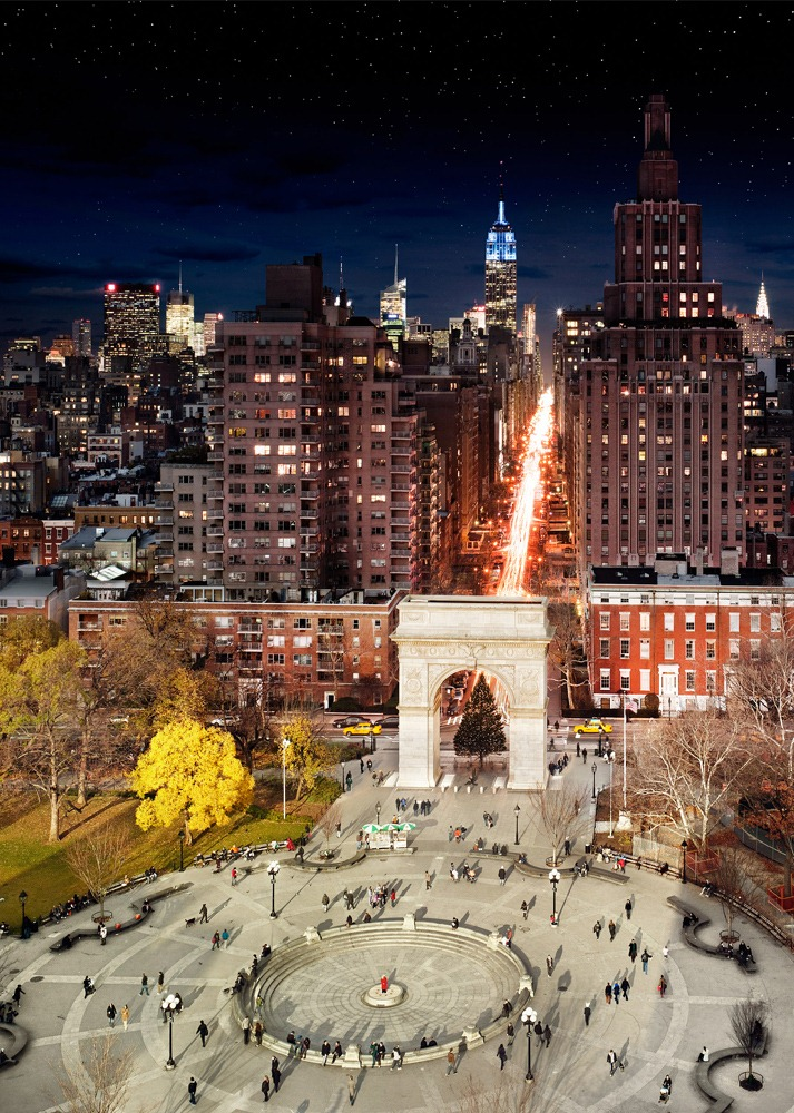day night combined Washington Square Park NYC2 New York City, Day and Night Combined By Stephen Wilkes (Photo Gallery)