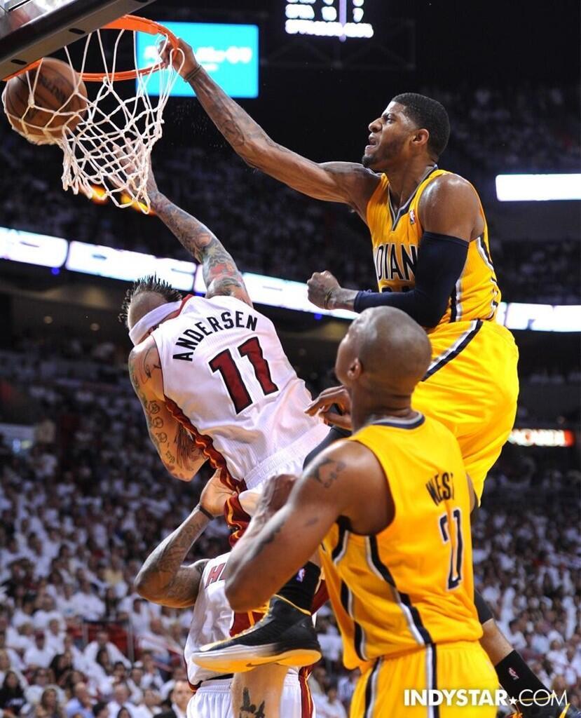 NBA Playoffs 2013 Paul George  Dunk