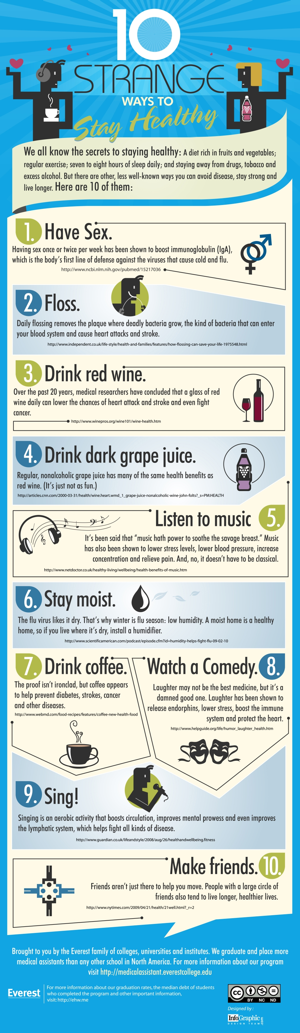 10 ways to stay healthy infographic 10 Interesting Ways to Stay Healthy (Infographic)