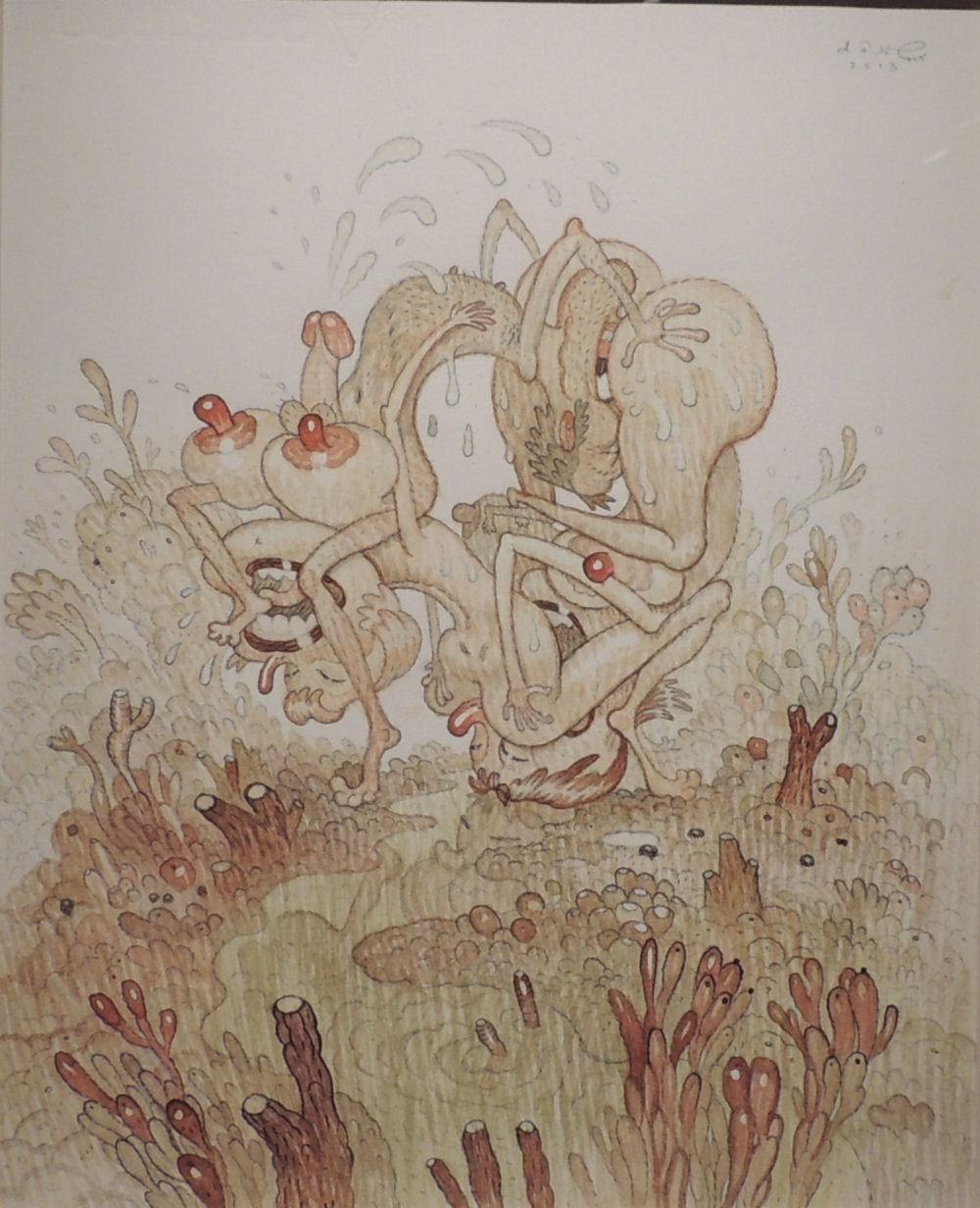 dave-cooper-fountain-watercolor-paper-risque-2013
