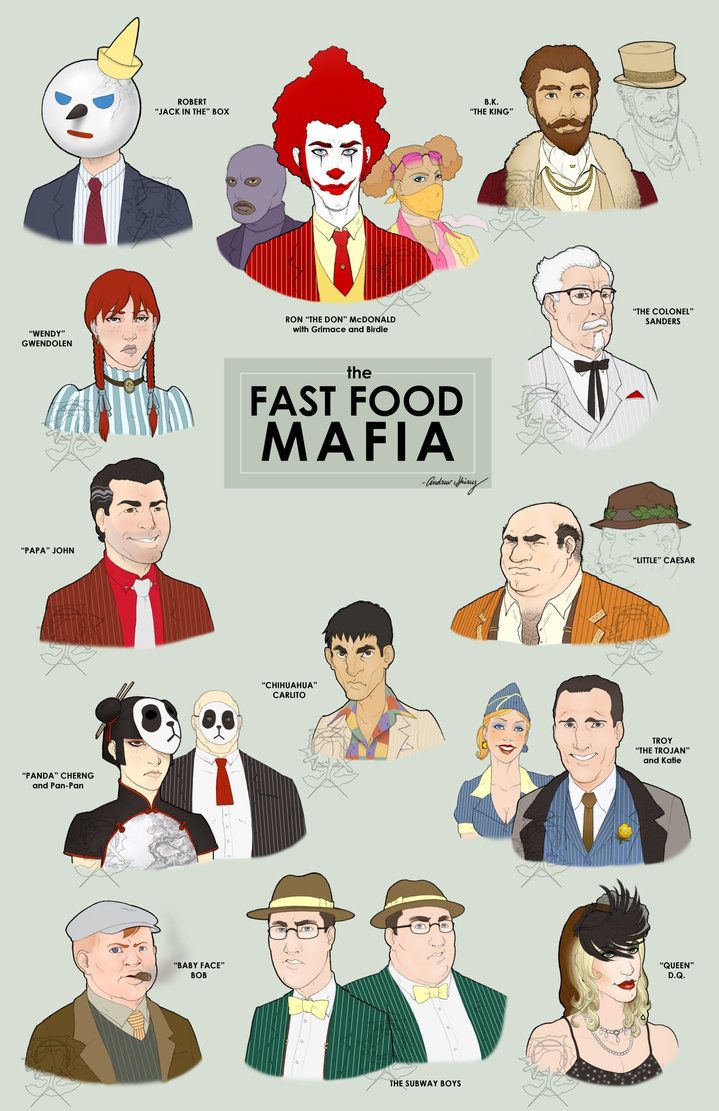 Fast_Food_Mafia__final_by_silentsketcher - Truth About Junk Food