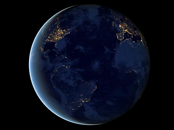 new-view-earth-at-night-globe Earth from Space