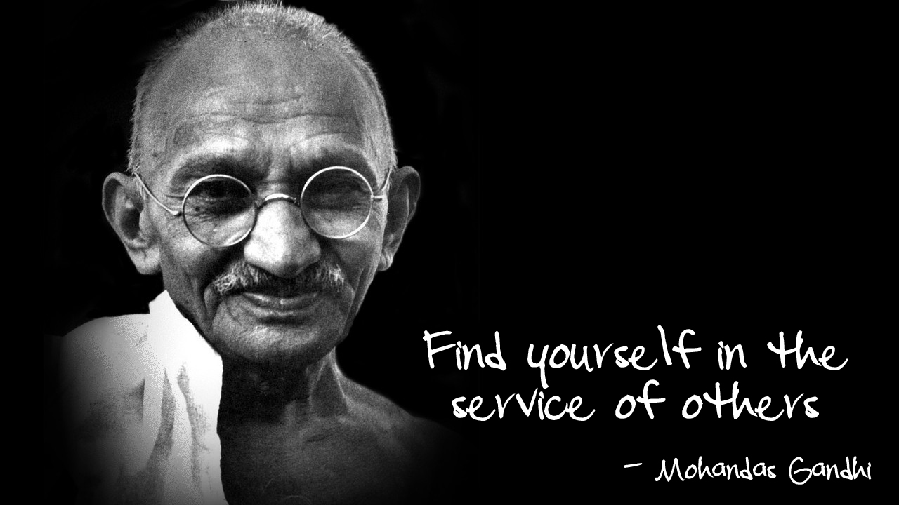 ghandi find yourself in the service of others 10 Ways to Raise Your Vibration and Appreciate Life